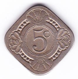 5 cent vierkant 1923     (Pracht)