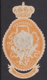 Geboorte Juliana 30 april 1909 feestzegel  / sluitzegel volledig intact!  E-1371 SCHAARS