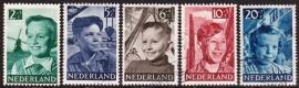 NVPH  573-577 Kinderzegels 1951 Gebruikt  CW 17.00  E-2149