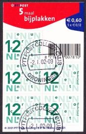 NVPH V2035a Bijplakzegels  2002  Gestempeld cataloguswaarde 1,50 E-2509