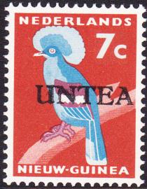 Ned. Nieuw Guinea / UNTEA  Opdrukafwijking UNafw PM2   op de 7 CT Postfris