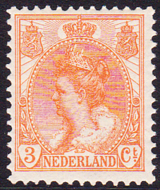 NVPH  56 Koningin Wilhelmina Postfris Cataloguswaarde 75.00