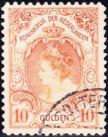 NVPH   80 Koningin Wilhelmina Gebruikt  Cataloguswaarde 750.00