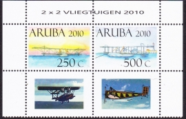NVPH  438-439  Historische Vliegtuigen 2010 Postfris  E-1793