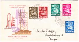 FDC E2 Kerken in oorlogstijd 1950  Geschreven adres met open klep