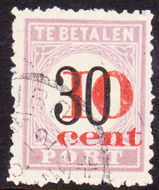 NVPH P15 Hulpuitgifte ''overdruk in rood'' TYPE III  Gebruikt Cataloguswaarde: 120.00