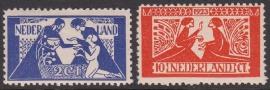 NVPH   134-135 Tooropzegels Ongebruikt  Cataloguswaarde 45.00  E-4371
