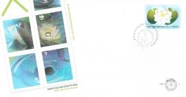 NVPH PBZ8 FDC met BZ16  Waterlelie met TPG logo  KR-SP1