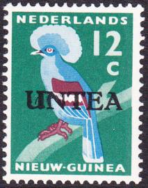 Ned. Nieuw Guinea / UNTEA  Opdrukafwijking UNafw PM2   op de 12 CT Postfris