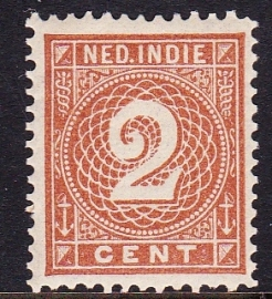 NVPH 18 Cijferzegel Ongebruikt cataloguswaarde: 1.50  E-2222