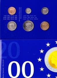 Jaarset 2000 Koninklijke Ned. Munt in boekvorm FDC
