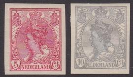 NVPH   82-83 Koningin Wilhelmina Ongetand Ongebruikt  Cataloguswaarde 20.00  E-4364