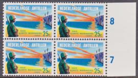 Ned. Antillen plaatfout 368 PM Postfris in blok van 4  E-2978