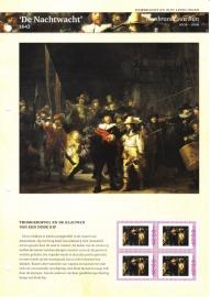 Persoonlijke Postzegel: Rembrandt en zijn leerlingen: De Nachtwacht Postfris