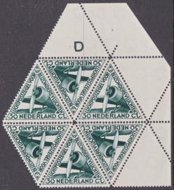 Plaatfout  LP10 PM4 Postfris in blok van 6   E-6314