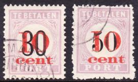 NVPH P15-P16 Hulpuitgifte ''overdruk in rood''  Cataloguswaarde: 270.00