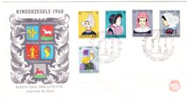 FDC E46  ''Kinderzegels 1960'' ONBESCHREVEN met dichte klep