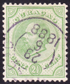 NVPH  1D Koning Willem III Gebruikt Cataloguswaarde: 15.00