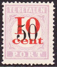 NVPH P16 Hulpuitgifte ''overdruk in rood'' TYPE I Ongebruikt Cataloguswaarde: 175.00