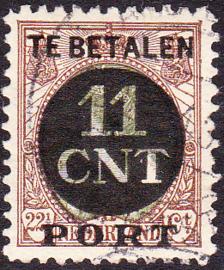 NVPH PV 1C Postpakket-verrekenzegel  gebruikt Cataloguswaarde 11.50