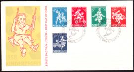FDC E36  ''Kinderzegels 1958'' ONBESCHREVEN met OPEN klep