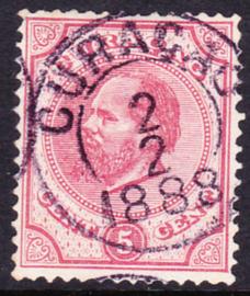 NVPH  3C Koning Willem III Gebruikt Cataloguswaarde: 17.50