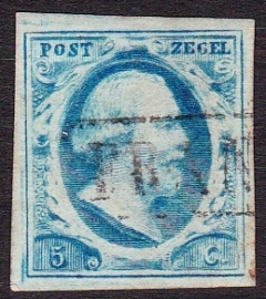 NVPH   1 Koning Willem 3 gebruikt Cataloguswaarde 45.00 E-2342