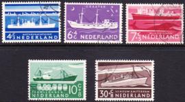 NVPH  688-692 Zomerzegels 1957 Gebruikt