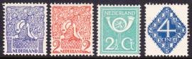 NVPH   110-113 Div. Voorstellingen Postfris Cataloguswaarde 21.50