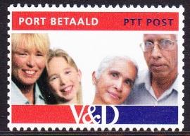 NVPH BZ 8 Port Betaald '' V&D ''  Postfris E-1791