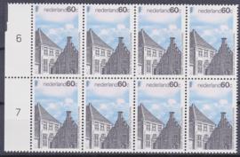 Plaatfout  1356 P1   Postfris in blok van 8   A-1799