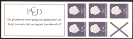 Postzegelboekje  6a + met rakelkrassen en Poot links boven breed(B)  Postfris