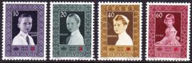 Liechtenstein 1955 Mi: 338-341 Postfris / MNH