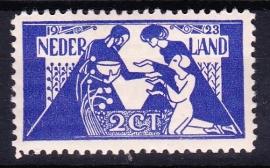 Plaatfout  134 PM Postfris Cataloguswaarde 160.00  E-2739