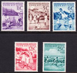 NVPH  234-238 Kinderpostzegels 1951 ''Kinderspelen'' Postfris cataloguswaarde: 60,00  E-2374