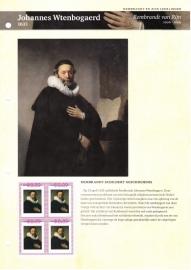 Persoonlijke Postzegel: Rembrandt en zijn leerlingen: Johannes Wtenbogeard Postfris