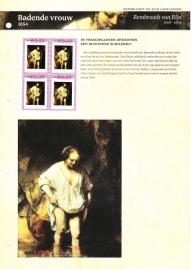 Persoonlijke Postzegel: Rembrandt en zijn leerlingen: Badende vrouw Postfris
