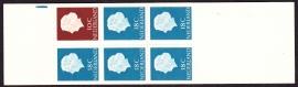 Postzegelboekje  3Yw Brede Registerstreep blauw LuXe Postfris  Cataloguswaarde 20.00 A-0348