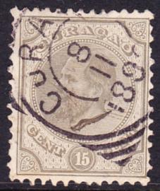 NVPH  6D Koning Willem III Gebruikt Cataloguswaarde: 30,00