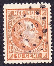NVPH 9 Koning Willem 3 Gebruikt Cataloguswaarde: 0,50 E-1814