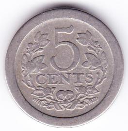5 cent rond 1908     (zeer fraai+)