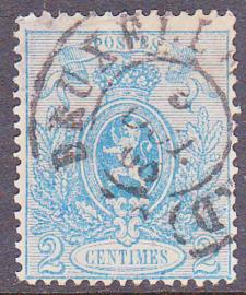 OBP   24 Kleine leeuw 1866 Gebruikt / Used Cataloguswaarde: 115,00 E-5374