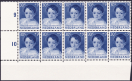 Plaatfout  706 PM2 + PM3  in blok van 10   Postfris  Cataloguswaarde  150,00