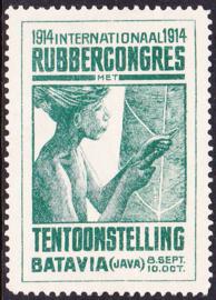Ned. Indië ZELDZAME Cinderella van het Rubbercongres in 1914 te Batavia (Java)