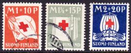 Finland 1930: Michel 158-160 Gebruikt