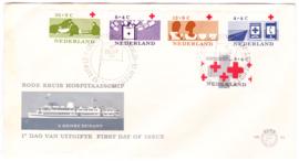 FDC 58fc   VARIATIE met weggevallen rode druk