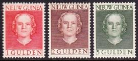 NVPH 19-21 ''en face'' Hoge waarden Postfris cataloguswaarde 52,50 E-1056