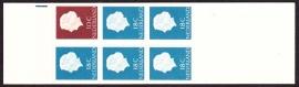 Postzegelboekje  3Yd  Registerstrepen blauw, bruin en paars LuXe Postfris  Cataloguswaarde 30.00 A-0350