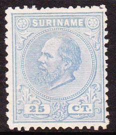 NVPH 10aC KAMTANDING 12,5 X 12 Koning Willem III Ongebruikt Cataloguswaarde 350.00