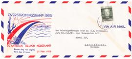 NVPH 244 Watersnood 1953 VOORLOPER FDC